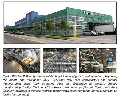 Exceptionnel FLUSHING, NY, November 3, 2014 U2013 Crystal Window U0026 Door Systems Announced  Today The Start Of Its 25th Anniversary Celebration Year. Launched In May  1990, ...