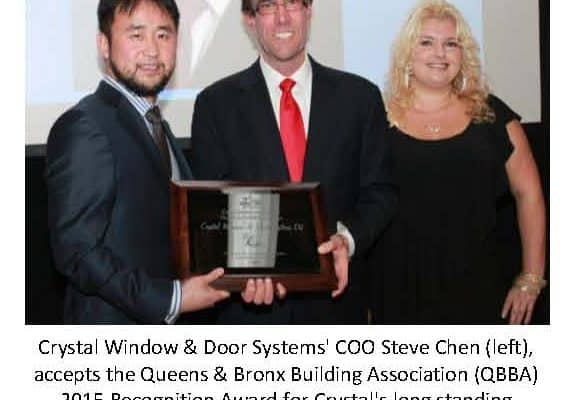 Crystal Windows Honored By Building Association