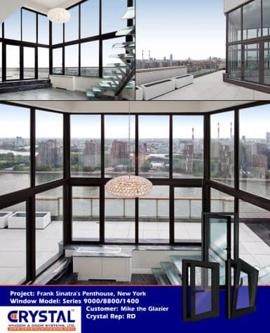 Series 9000 Heavy Commercial / Architectural Aluminum Thermal-Break Dual-Action (Tilt & Turn) Windows