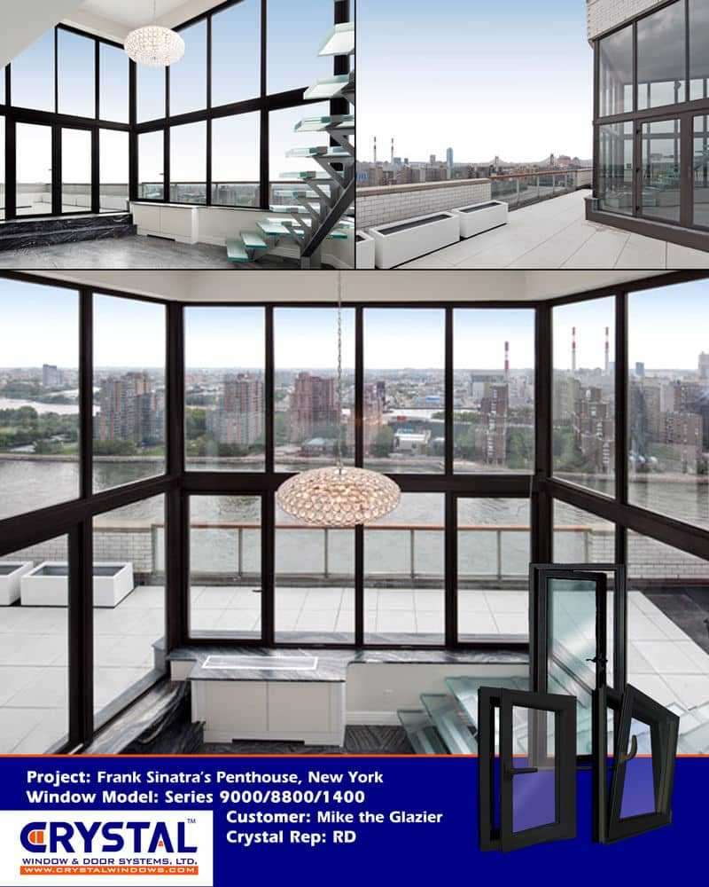 Series 9000 Heavy Commercial / Architectural Aluminum Thermal Break  Dual Action (Tilt U0026 Turn) Windows