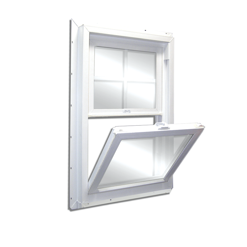 Series 300 vinyl fully welded new construction single hung for New construction windows for sale