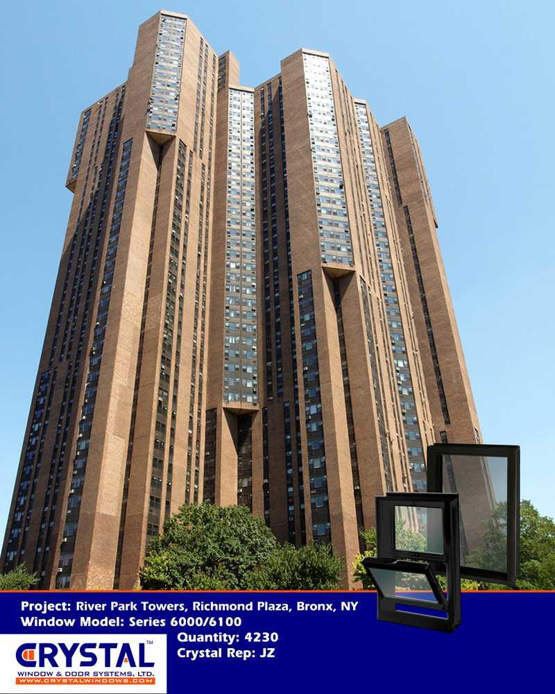 River Park Apartments Bronx: Architectural Aluminum Thermal-Break Picture / Fixed Windows
