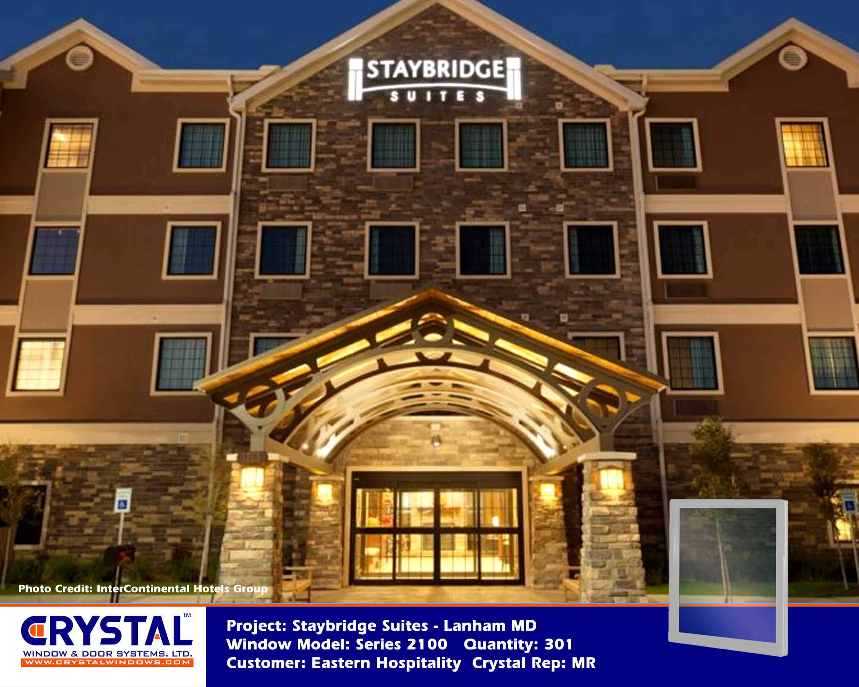 Staybridge Suites Lanham Md Crystal Windows Commercial