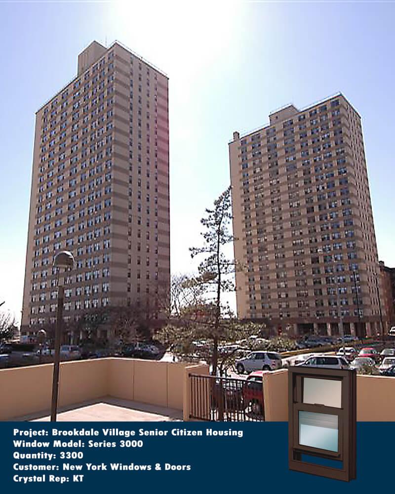 Senior Citizen Apartments: Heavy Commercial / Architectural Aluminum Sliding Windows